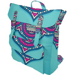 Blue Mandala Buckle Up Backpack