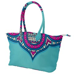 Blue Mandala Canvas Shoulder Bag