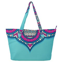 Blue Mandala Full Print Shoulder Bag