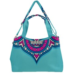 Blue Mandala Double Compartment Shoulder Bag