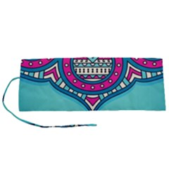 Blue Mandala Roll Up Canvas Pencil Holder (s)