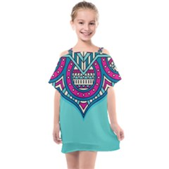 Blue Mandala Kids  One Piece Chiffon Dress