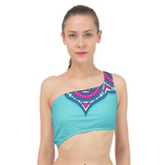 Blue Mandala Spliced Up Bikini Top