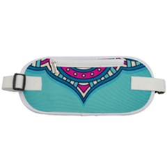 Blue Mandala Rounded Waist Pouch