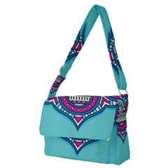 Blue Mandala Full Print Messenger Bag (m)