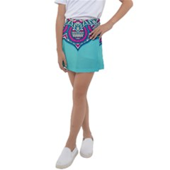 Blue Mandala Kids  Tennis Skirt