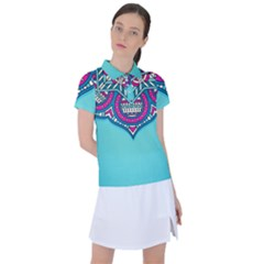 Blue Mandala Women s Polo Tee