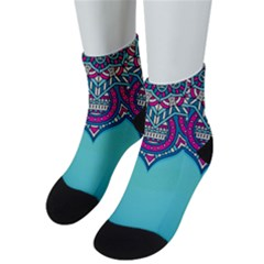 Blue Mandala Men s Low Cut Socks