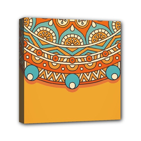 Sunshine Mandala Mini Canvas 6  X 6  (stretched)