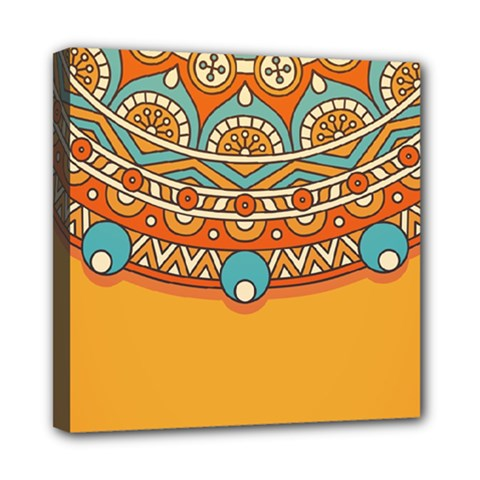 Sunshine Mandala Mini Canvas 8  X 8  (stretched)