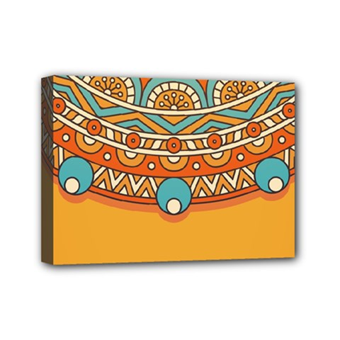 Sunshine Mandala Mini Canvas 7  X 5  (stretched)