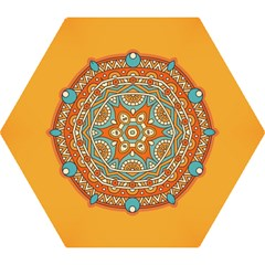 Sunshine Mandala Mini Folding Umbrellas