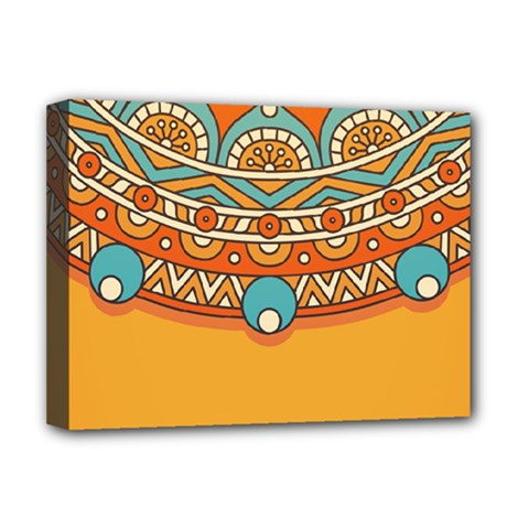 Sunshine Mandala Deluxe Canvas 16  X 12  (stretched)