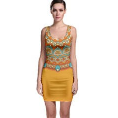 Sunshine Mandala Bodycon Dress