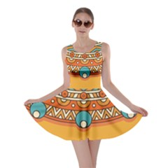 Sunshine Mandala Skater Dress