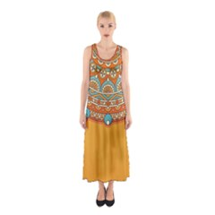 Sunshine Mandala Sleeveless Maxi Dress
