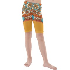 Sunshine Mandala Kids  Mid Length Swim Shorts