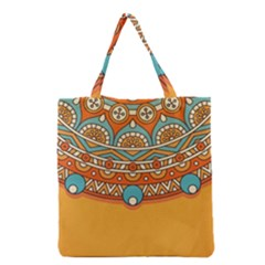 Sunshine Mandala Grocery Tote Bag