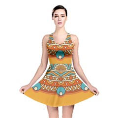 Sunshine Mandala Reversible Skater Dress
