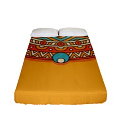 Sunshine Mandala Fitted Sheet (full/ Double Size)