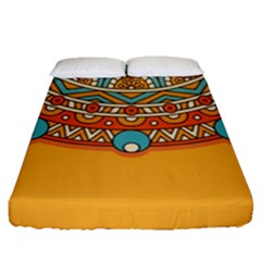 Sunshine Mandala Fitted Sheet (queen Size)
