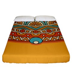 Sunshine Mandala Fitted Sheet (king Size)