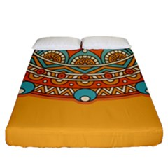Sunshine Mandala Fitted Sheet (california King Size)