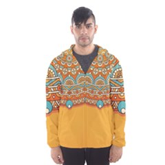 Sunshine Mandala Men s Hooded Windbreaker