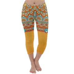 Sunshine Mandala Capri Winter Leggings
