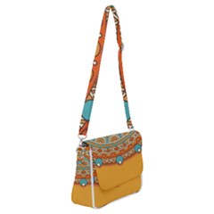 Sunshine Mandala Shoulder Bag With Back Zipper