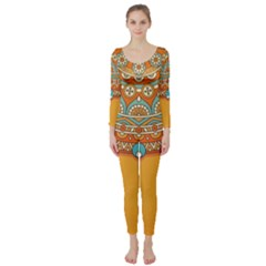Sunshine Mandala Long Sleeve Catsuit