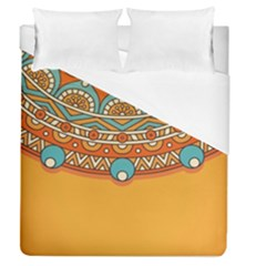 Sunshine Mandala Duvet Cover (queen Size)