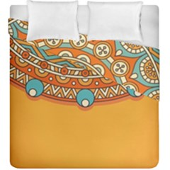 Sunshine Mandala Duvet Cover Double Side (king Size)