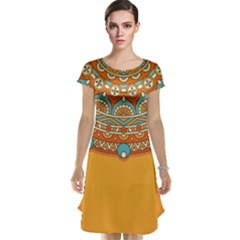 Sunshine Mandala Cap Sleeve Nightdress