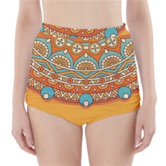 Sunshine Mandala High-waisted Bikini Bottoms