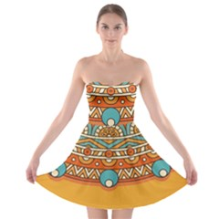 Sunshine Mandala Strapless Bra Top Dress