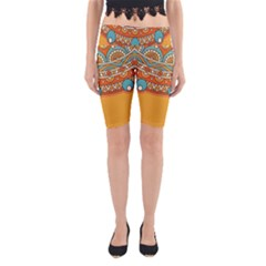 Sunshine Mandala Yoga Cropped Leggings
