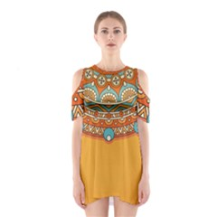 Sunshine Mandala Shoulder Cutout One Piece Dress
