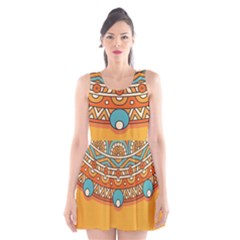 Sunshine Mandala Scoop Neck Skater Dress