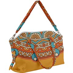 Sunshine Mandala Canvas Crossbody Bag