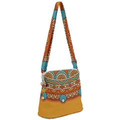 Sunshine Mandala Zipper Messenger Bag