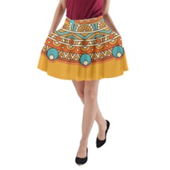 Sunshine Mandala A-line Pocket Skirt