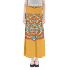 Sunshine Mandala Full Length Maxi Skirt