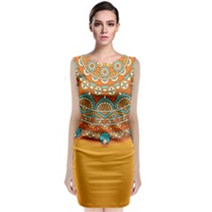 Sunshine Mandala Classic Sleeveless Midi Dress