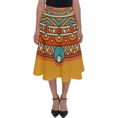 Sunshine Mandala Perfect Length Midi Skirt