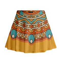 Sunshine Mandala Mini Flare Skirt