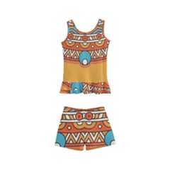 Sunshine Mandala Kids  Boyleg Swimsuit