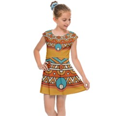 Sunshine Mandala Kids  Cap Sleeve Dress