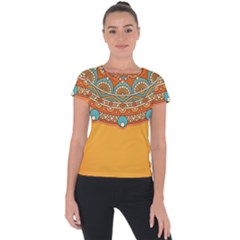 Sunshine Mandala Short Sleeve Sports Top