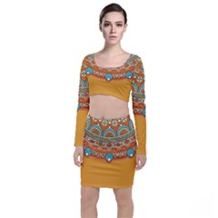 Sunshine Mandala Top And Skirt Sets